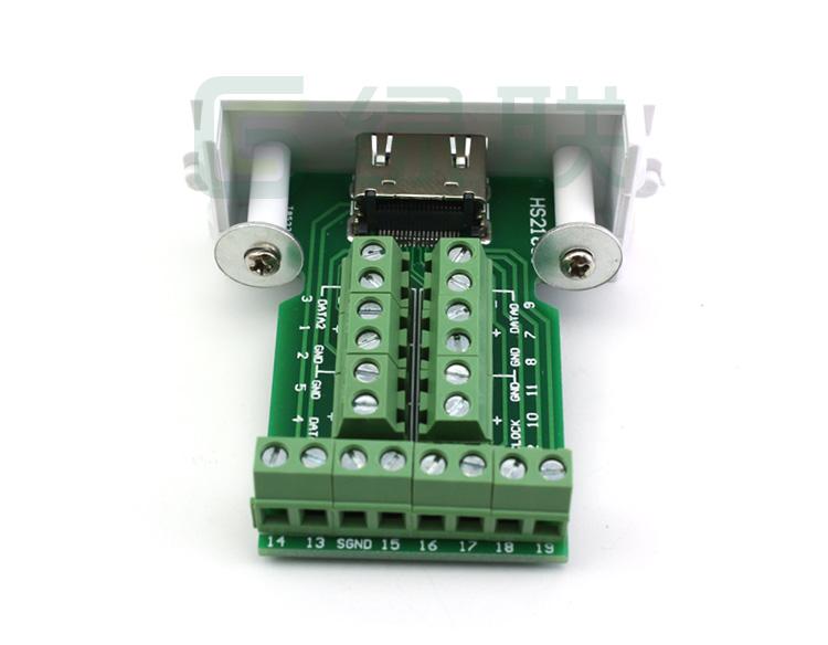 hdmi免焊接插板 手工接线模块