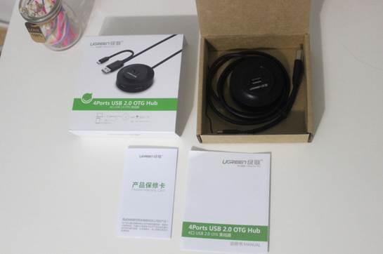 绿联otg hub包装