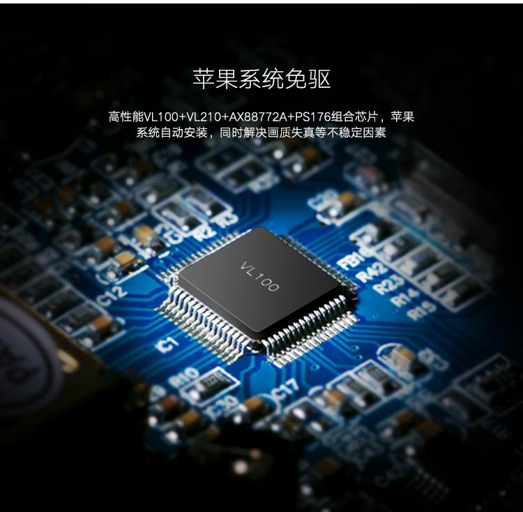 绿联type-c转hub/hdmi/vga投影仪网卡转换器苹果华为