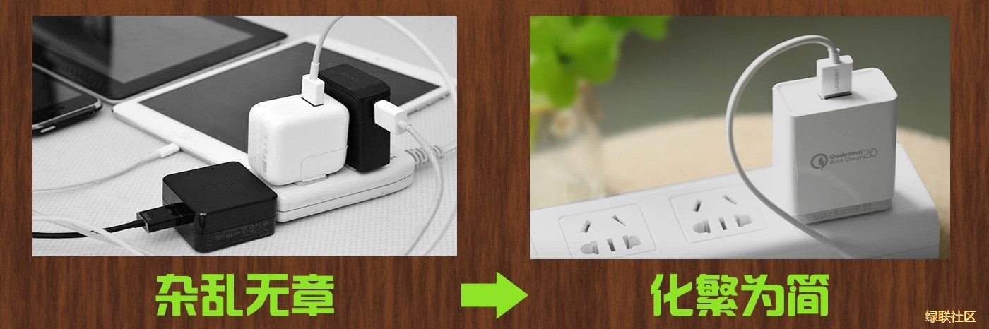 绿联QC3.0充电器应用场景