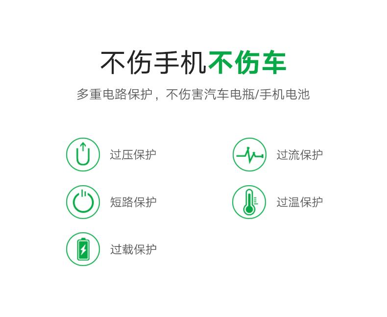 绿联QC3.0车载充电器,一拖二双口通用车充