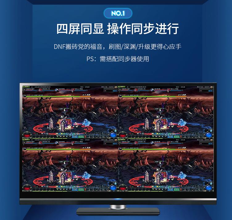 绿联HDMI画面分割器分割模式
