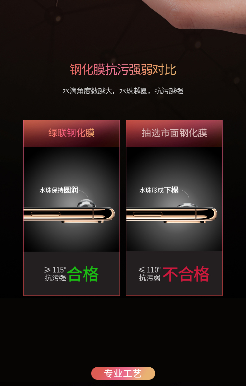 绿联iPhone XS钢化膜
