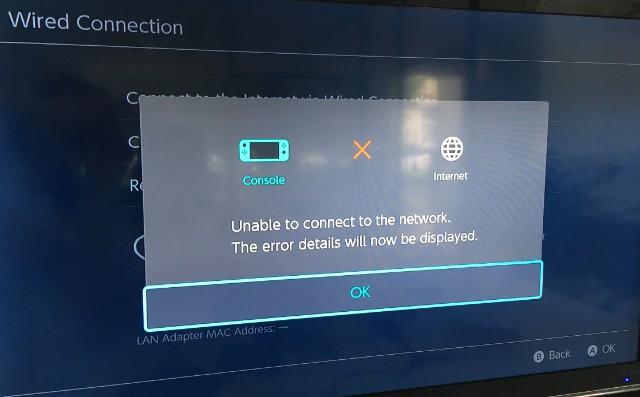 任天堂Switch接千兆网卡不能上网