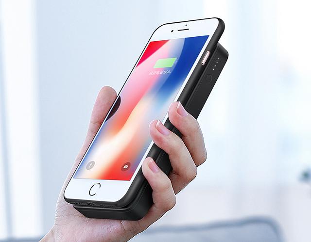 绿联无线充电宝为iPhone8无线充电